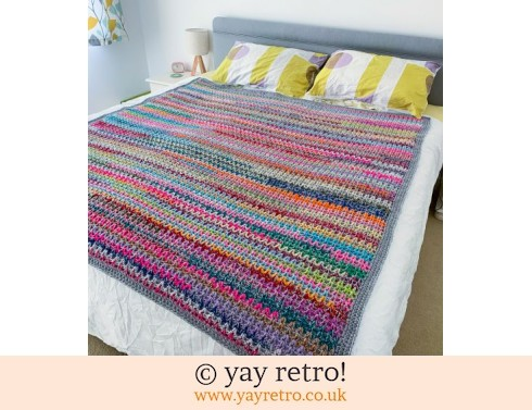 Arty V Stitch Double/King Size Crochet Blanket (£135.00)
