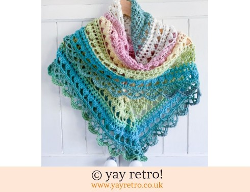 152: 'Pistachio' V for Vintage Crochet Shawl (£32.50)