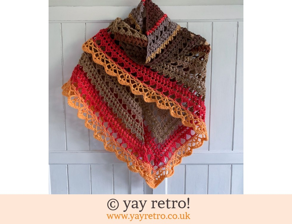 yay retro!: 'Elements' V for Vintage Crochet Shawl (£32.50)