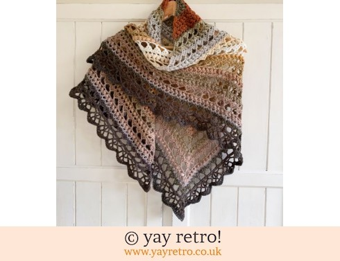 'Earthworks' V for Vintage Crochet Shawl (£32.50)