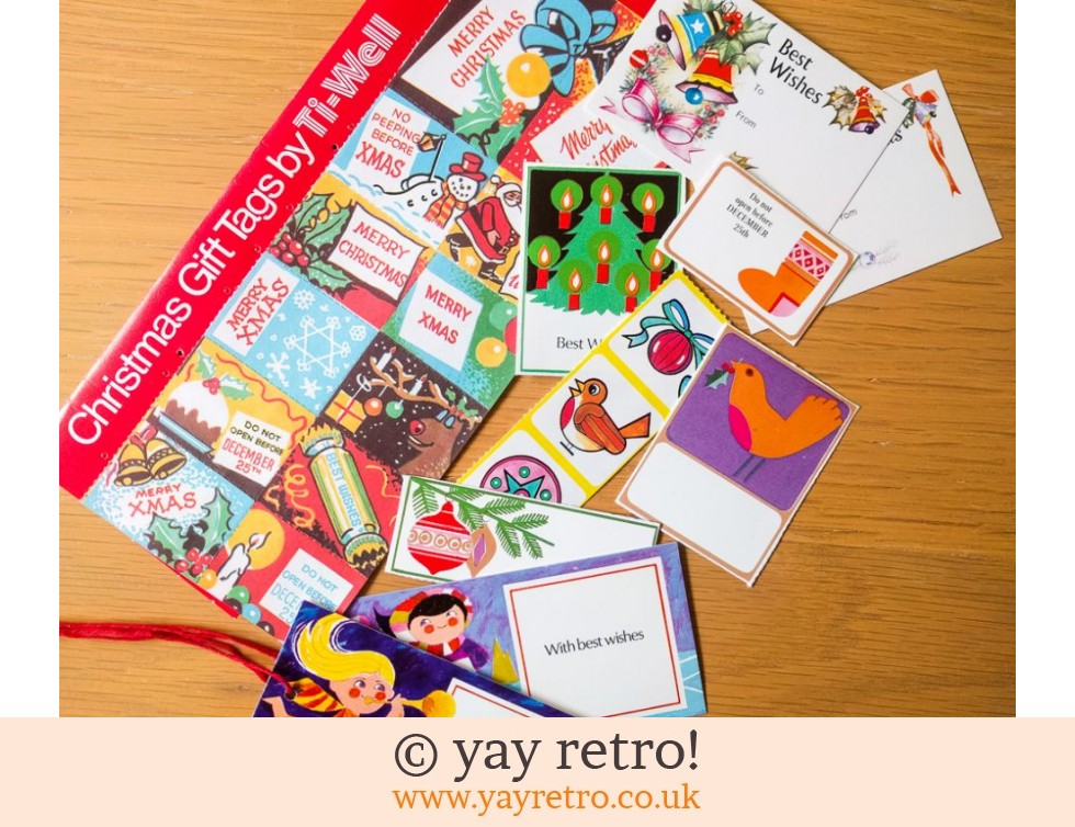 1960/70s Christmas Tags & Stickers Pack (£6.00)