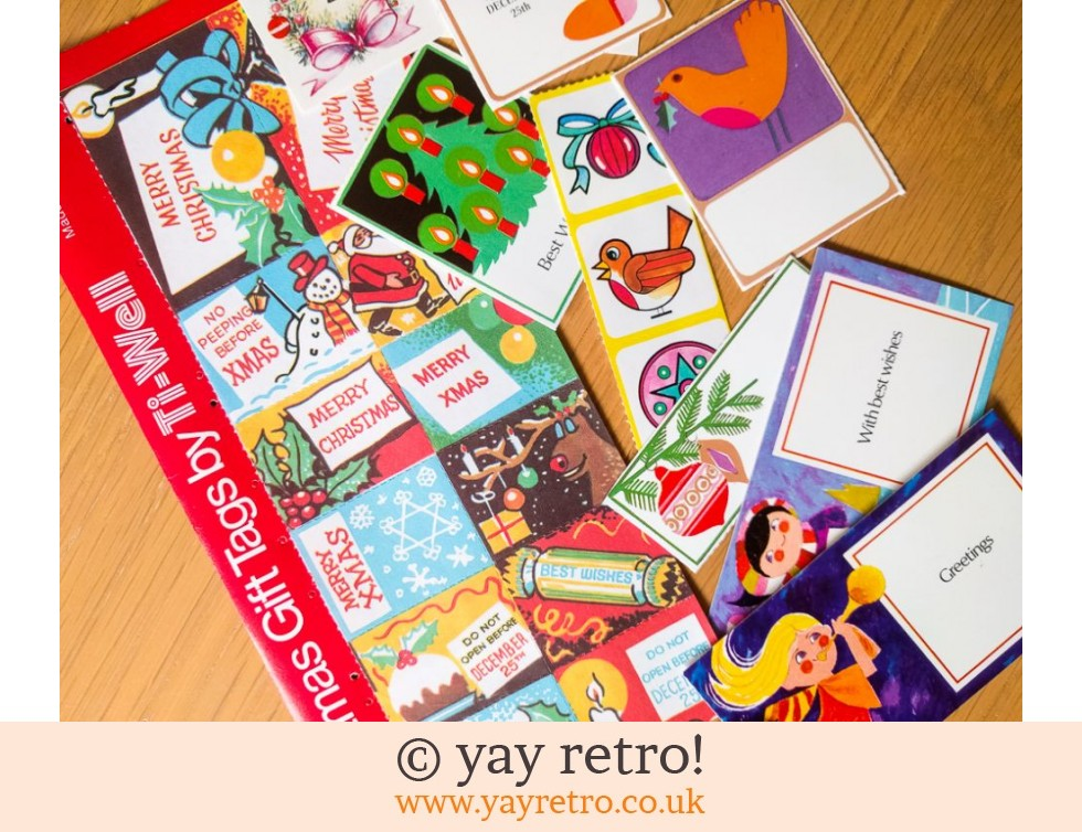 Ti-well: 1960/70s Christmas Tags & Stickers Pack (£6.00)