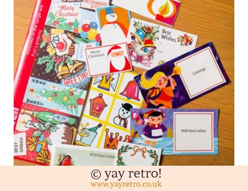846: 1960/70s Christmas Tags & Stickers Pack (£6.00)