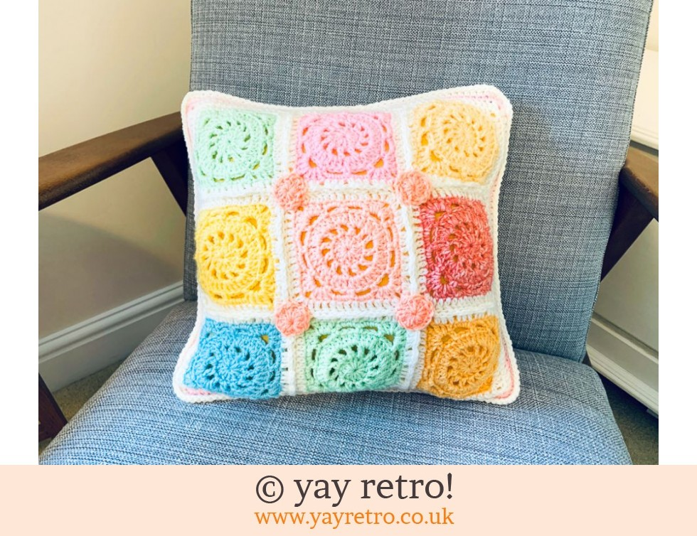 yay retro!: Crochet Cushion - Pastel Ice Cream (£17.00)