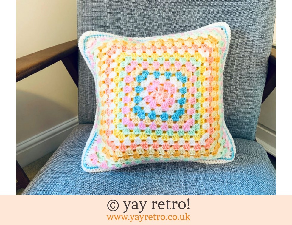 Crochet Cushion - Pastel Ice Cream (£17.00)