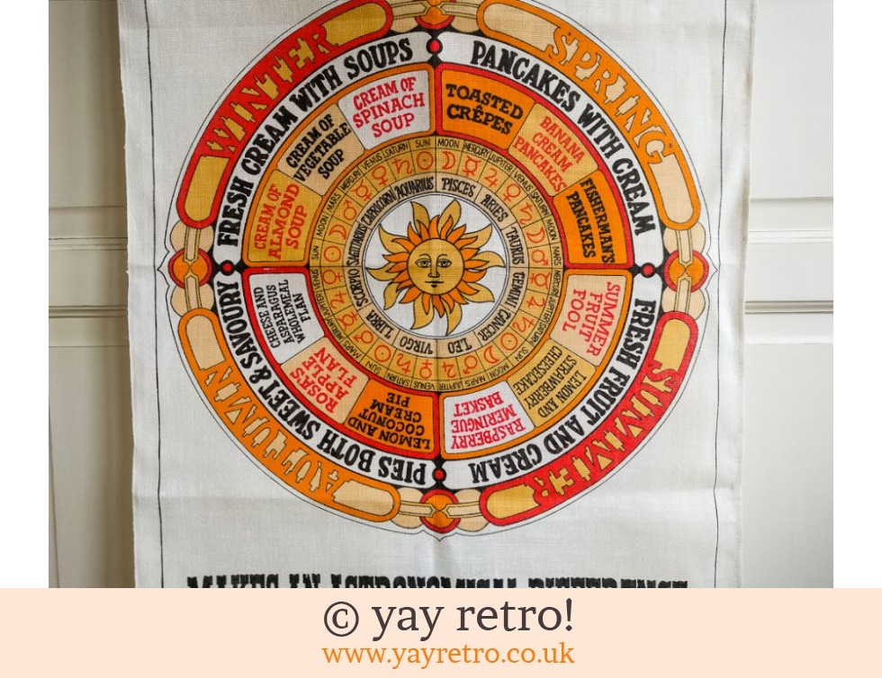 Fresh Cream 1970s Orange Tea Towel (£8.50)