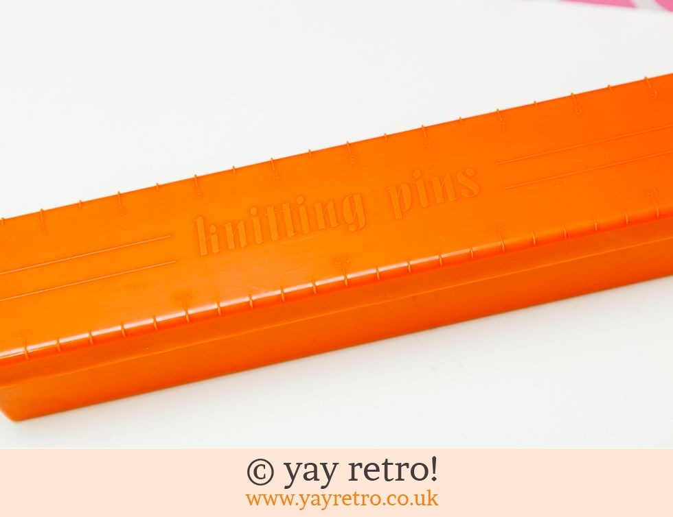 Twinco Knitting Pins Box - Orange! (£9.00)