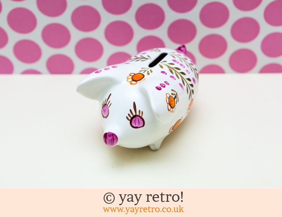 1960/70s Daisy Piggy Bank (£17.50)