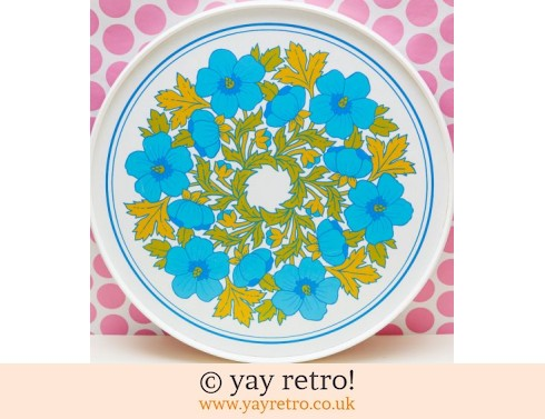 55: Large Blue Flower Power Tray - Stunning (£17.50)