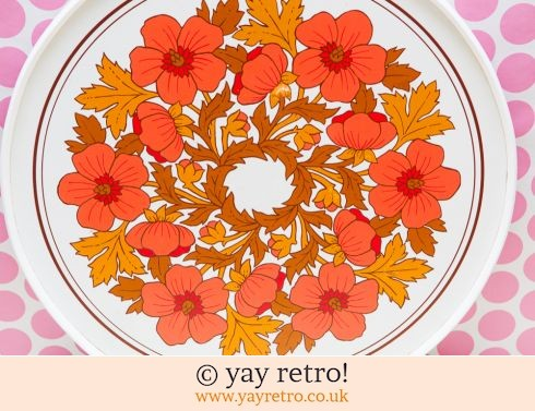 Large Red Flower Power Tray (£20.00)