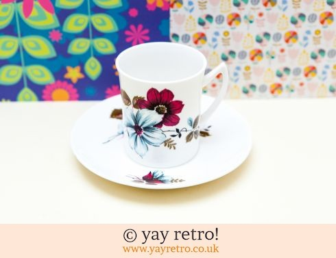 Fine Bone China Flower Power Cup & Saucer 60/70s (£9.50)