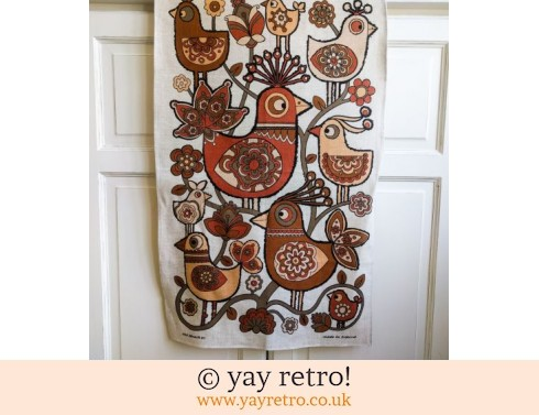422: Scandi Bird 70s Vintage Tea Towel (£18.00)