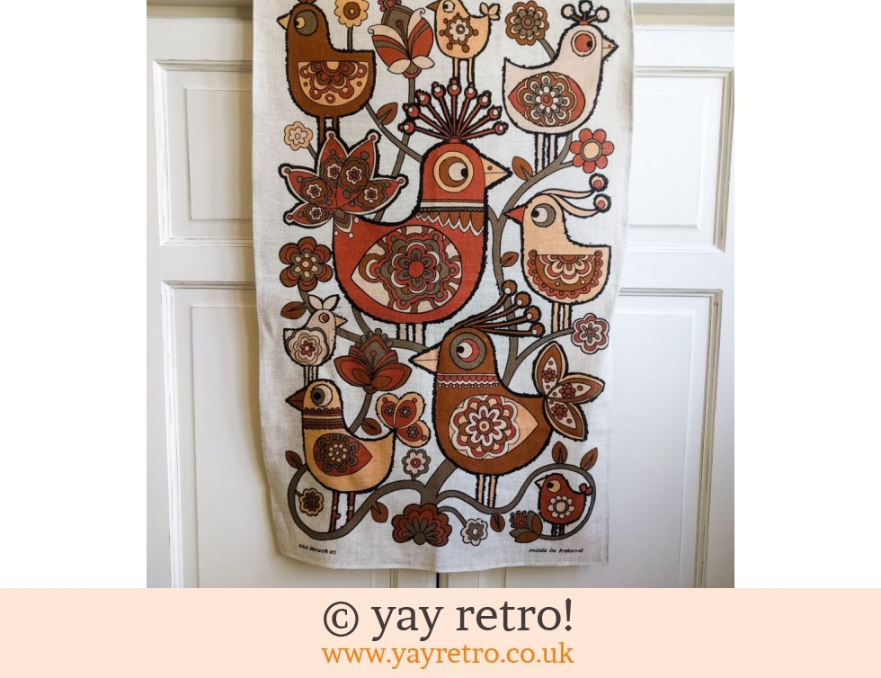 Old Bleach: Scandi Bird 70s Vintage Tea Towel (£22.00)