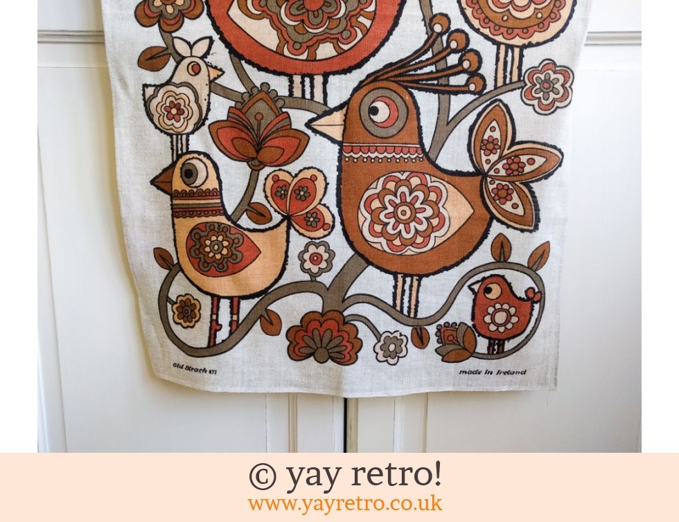 Scandi Bird 70s Vintage Tea Towel (£22.00)
