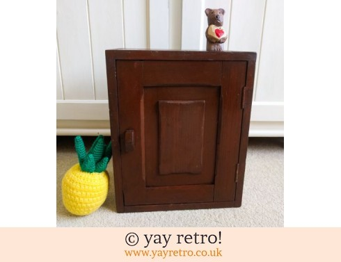 0: Vintage 1930/40s Wooden Cupboard (£29.95)