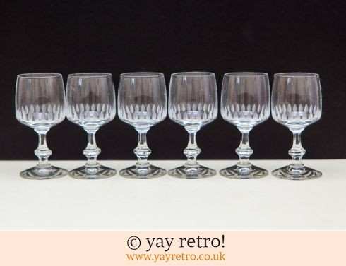 0: 6 Fine Port / Liqueur Glasses 1960s (£12.95)