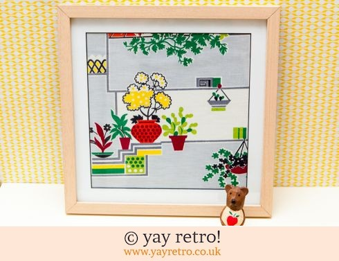 0: 1950s Houseplant Fabric Framed (£14.00)