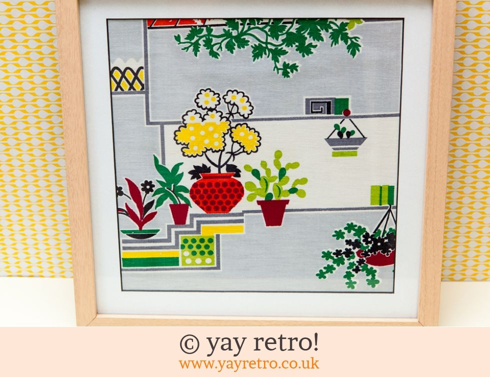 1950s Houseplant Fabric Framed (£14.00)