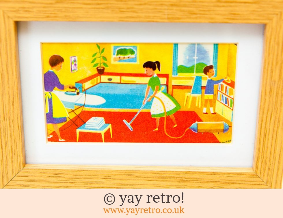 1960s Housework Framed Illustration (£12.50)