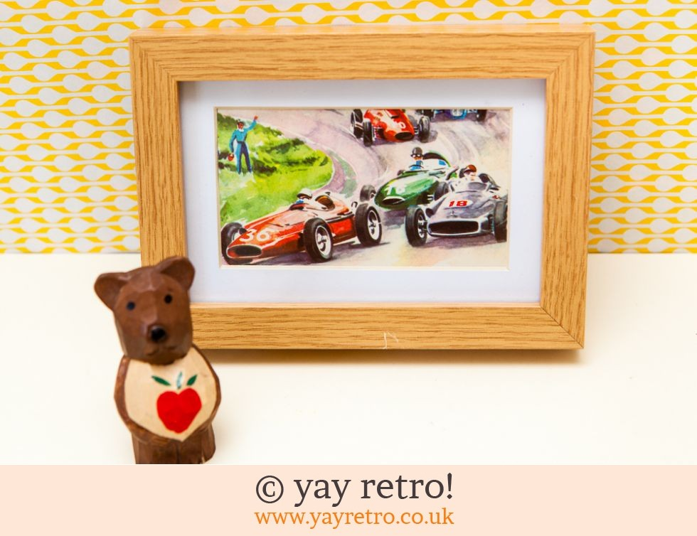 Vintage 60s Racing Cars Framed (£7.00)