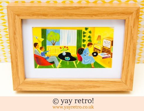 0: 1960s Lounge Framed Illustration (£14.50)
