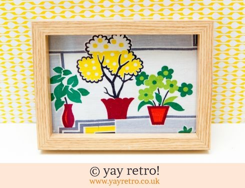 0: 1950s Houseplant Fabric Framed (£9.00)