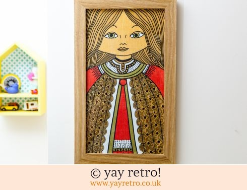 0: 70s Scandi Girl Fabric Framed 43cm x 26cm (£16.00)