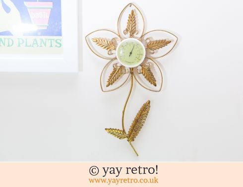 0: 1950/60s Kitsch Flower Thermometer (£14.50)