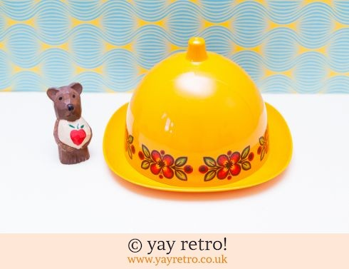 Emsa Vintage Orange Cheese Dome - RARE (£26.00)