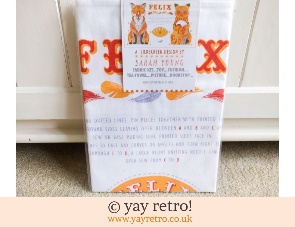 Felix The Fox Tea Towel - Toy - Cushion - Picture Kit NEW (£13.95)