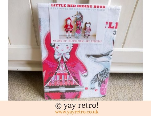 830: Little Red Riding Hood Tea Towel - Toy - Cushion - Picture Kit NEW (£13.95)