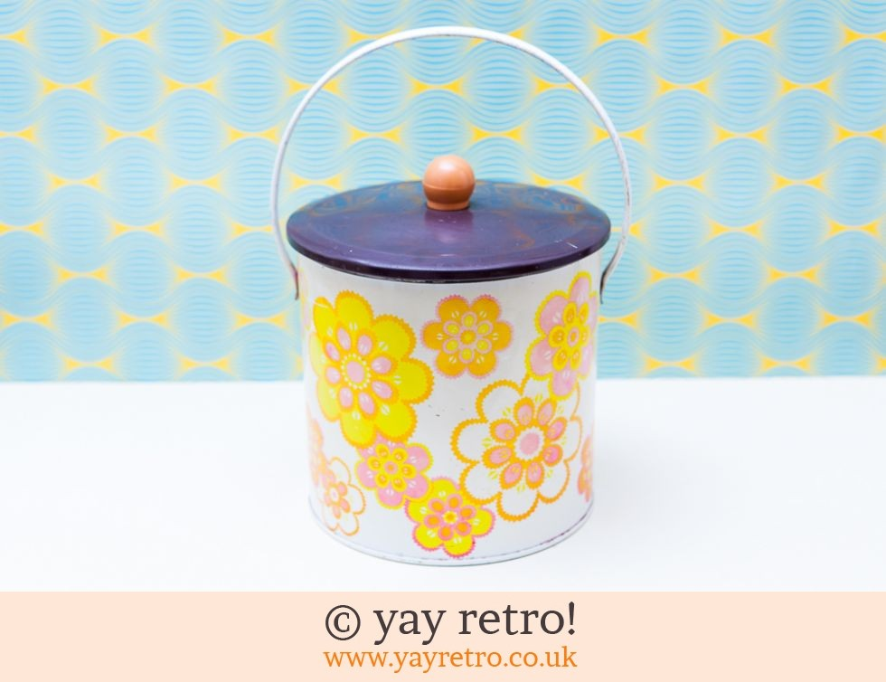 Baretware: Flower Power Metal Biscuit Tin (£15.00)