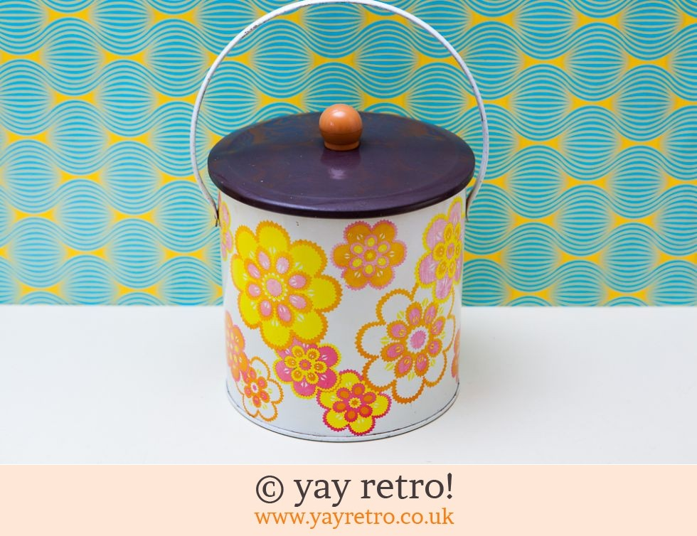 Flower Power Metal Biscuit Tin (£15.00)