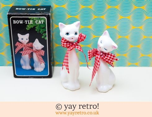 0: Vintage 60s Pair of Tall Cats with Bow Ties (boxed) (£17.00)