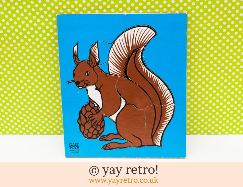 Galt Toys: Vintage Wooden Squirrel Jigsaw - Collectable (£6.00)