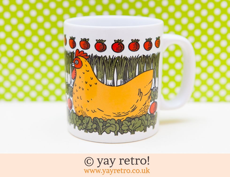 Kiln Craft: Pat Albeck Mug - Happy Chicken! (£11.00)