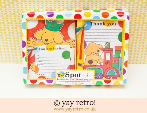 843: Spot The Dog Party Invite Set Boxed & Unused (£12.50)