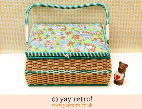 0: Vintage Woven Sewing Basket 1960s (£14.00)