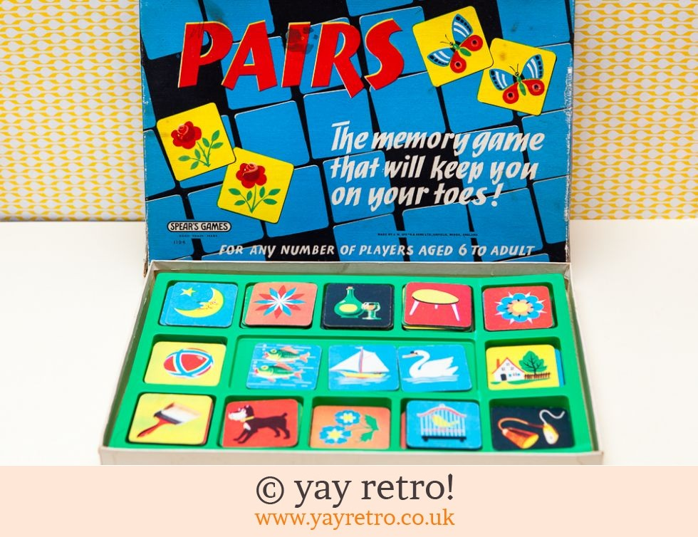 Spears Games: 1960s Pairs Game (£9.00)