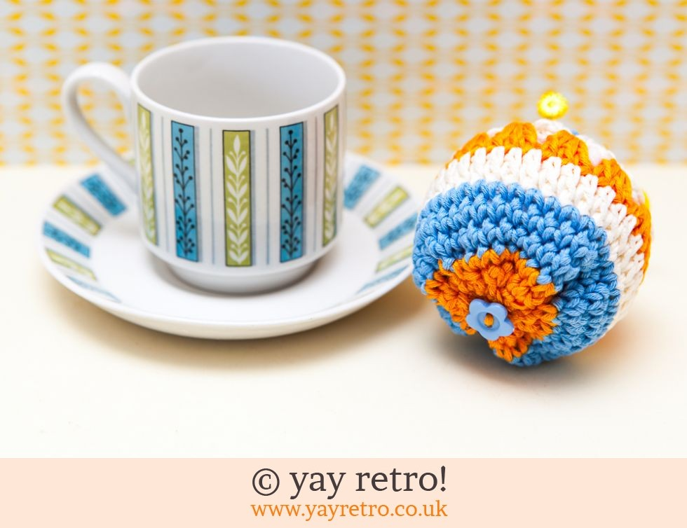 Crochet Pin Cushion Jessie Tait Cup & Saucer (£12.50)