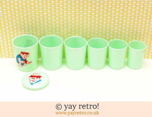 Fred Flintstone Vintage Graduated Cups (£10.00)