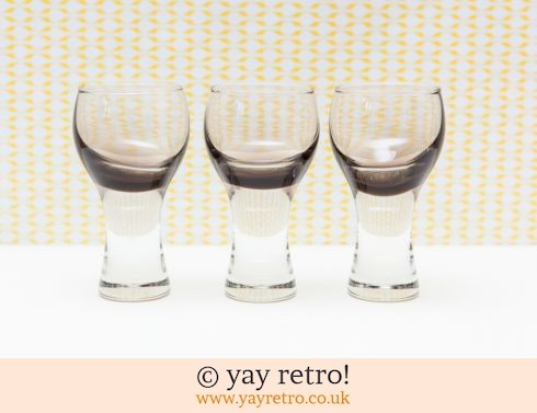 0: 70s Canisbay Sherry /Port / Liqueur Glasses x 3 (£12.00)