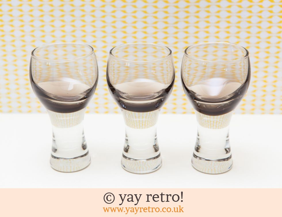 70s Canisbay Sherry /Port / Liqueur Glasses x 3 (£8.50)
