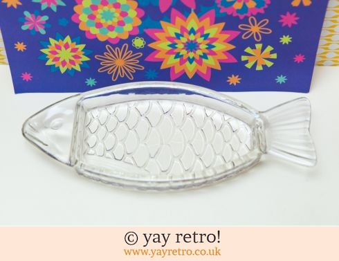 Vintage Glass Fish Dish - France (£9.75)