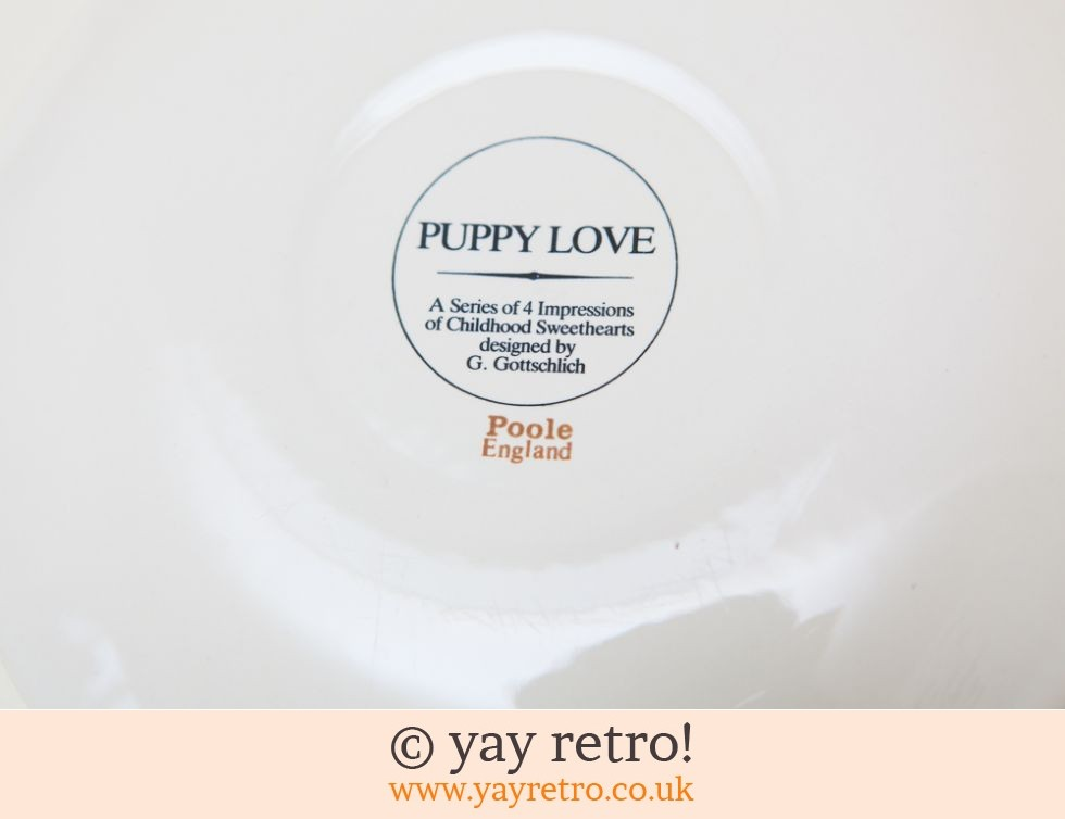 Poole Pottery Puppy Love Plate (£8.00)