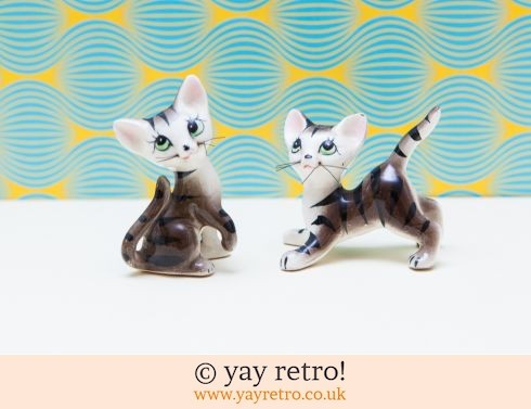 0: 1960s Pottery Kitsch Kittens with Whiskers! (£14.00)