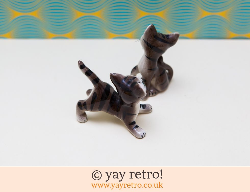 1960s Pottery Kitsch Kittens with Whiskers! (£14.00)