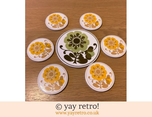 Jersey Pottery Place Mat & Coasters (£22.50)