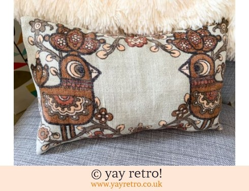 0: Chocolate Scandi Bird Cushion (£17.00)