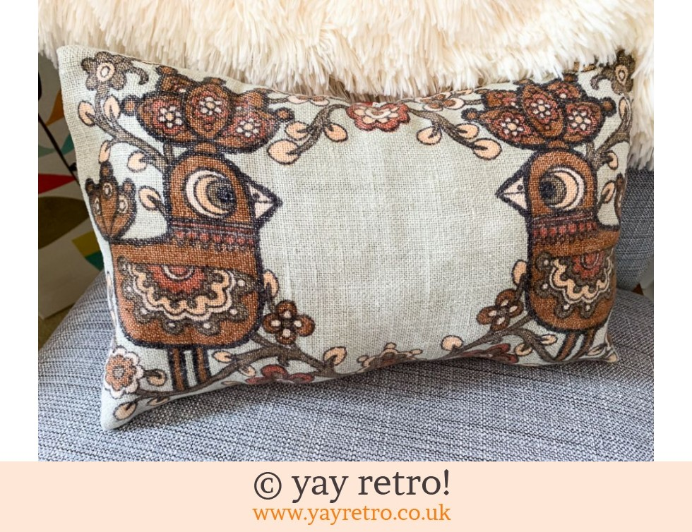 Chocolate Scandi Bird Cushion (£22.50)